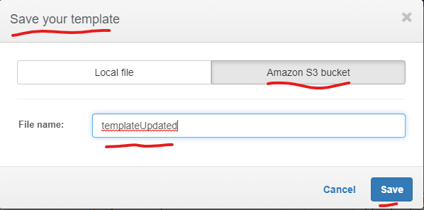 AWS CF Stack Update Choose S3