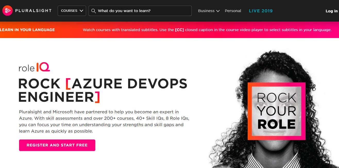Register Azure Pluralsight Benefits